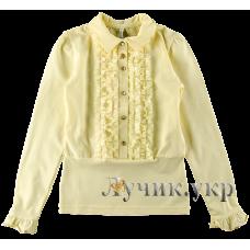 (91366) [р. 158] Блуза нарядная для девочки. SMIL 114519. Кремовый. Стрейч-Кулир Сюид