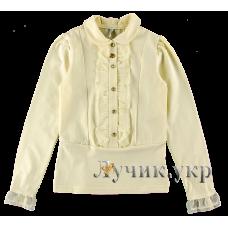 (92071) [р. 158] Блуза нарядная для девочки. SMIL 114514. Кремовый. Стрейч-Кулир