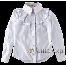 (92821) [р. 146] Блуза нарядная для девочки. SOFIA SHELEST 000383. Белый. Рубашечная Ткань