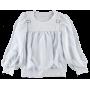 (73406) [р. 134] Блузка трикотажная нарядная для девочки. ЛЯ-ЛЯ 3Т189В. Белый. Стрейч-Кулир