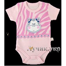 (107035) [р. 74] Боди-футболка для малышей. VEO BABY 13724/1. Розовый1. Кулир