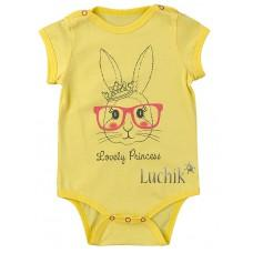 (129846) [р. 80] Боди-футболка для девочки. КЕНА 117321-О/1. Желтый. Кулир