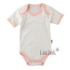 (131318) [р. 98] Боди-футболка для малышей. MINI OKYANUS 1157. Молочный/Кораловый. Трикотаж