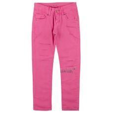 (129938) [р. 152] Брюки котоновые для девочки. KE YI QI M-02. Насыщенный Розовый. Котон