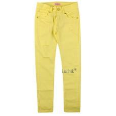 (129932) [р. 164] Брюки котоновые для девочки. KE YI QI M-02. Лимонный. Котон
