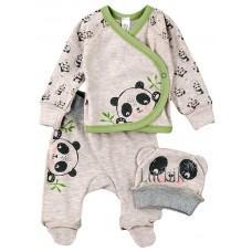 (129317) [р. 62] Комплект для новорожденного. SWEET MARIO 9-07-25. Серый Меланж. Интерлок