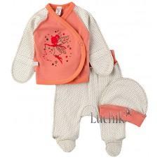 (128780) [р. 62] Комплект для новорожденного. SWEET MARIO 10-07-3. Коралловый. Интерлок
