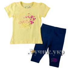 (105576) [р. 80] Комплект для девочки. DIVONETTE 5206. Лимонный. Стрейч-Кулир