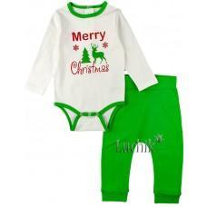 (116635) [р. 86] Комплект детский. КЕНА 112882. Зеленый1. Интерлок