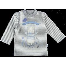 (76745) [р. 74] Реглан (джемпер) нарядный детский ECO STYLE. ЛЯ-ЛЯ 3Т090. Серый. Интерлок