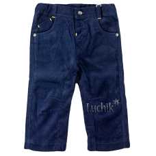 (85043) [р. 68] Брючки для мальчика Premium Collection . BEMBI ШР283. Синий. Микровельвет