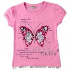 (130848) [р. 104] Футболка для девочки . NARMINI 6866. Розовый. Стрейч-Кулир