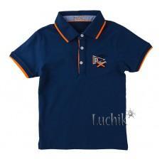 (131284) [р. 134] Тениска-поло для мальчика. FIGO 2458. Темно-Синий. Лакоста