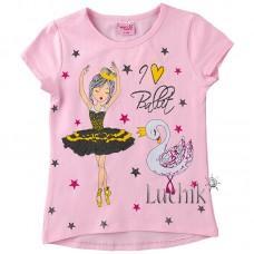 (131252) [р. 110] Футболка для девочки . MOCCIS KIDS 3456. Розовый. Трикотаж