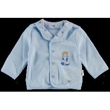 (79964) [р. 62] Кофточка/пиджак для мальчика ТЫСЯЧА И ОДНА НОЧЬ. SMIL 105268. Голубой. Интерлок