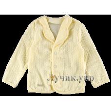 (86799) [р. 86] Пиджак нарядный для мальчика НАРЯДНЫЙ ВЕЛЮР. SMIL 114394. Кремовый. Велюр