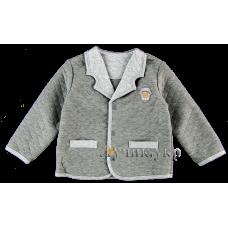 (86980) [р. 86] Пиджак нарядный для мальчика ПРАЗДНИЧНОЕ НАСТРОЕНИЕ. SMIL 116225. Темно-Серый Меланж. Капитон