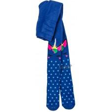 (126530) [р. 122 - 128] Махровые колготки теплые для девочки. BROSS 17595. Синий. Хлопок-Махра