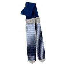 (114231) [р. 158 - 164] Колготы-гетры для девочки. BOY&GIRL LINES. Темно-Синяя Полоска. Хлопок