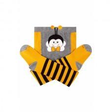 (324712) [р. 68 - 74] Колготки детские демисезонные. DUNA 4935. Желтый. Хлопок