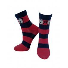 (325449) [р. 14 - 16] Носки для мальчика. ЛЕГКА ХОДА 9226. Марине/Красный. Хлопок