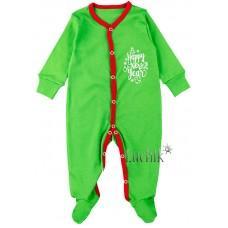 (116629) [р. 68] Комбинезон трикотажный детский. КЕНА 118132/2. Зеленый1. Интерлок