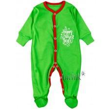 (116631) [р. 62] Комбинезон трикотажный детский. КЕНА 118132/2. Зеленый1. Интерлок
