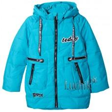 (113676) [р. 158] Куртка-парка для девочки. FENG SHUO DA 802. Бирюзовый. Плащевка