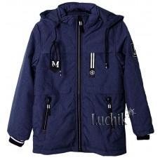 (113641) [р. 140] Куртка для мальчика. JIE KEI 1717. Синий Меланж. Плащевка