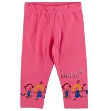 (112885) [р. 80] Лосины 3/4 летние для девочки. TWOO 107. Розовый1. Стрейч-Кулир