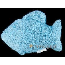 (86692) [р. Стандартный] Мочалка для купания РЫБКА. СОНЯ 4505. Голубой. Махра Натуральная