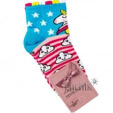 (317192) [р. 1 years (стопа 12 - 13)] Носки для девочки. UCS M0C0101-2074. Розовый С Голубым. Хлопок