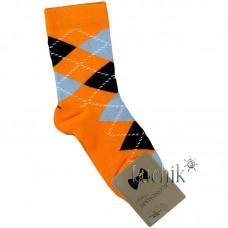 (324101) [р. 7 years (стопа 19 - 19.5)] Носки для мальчика. UCS M0C0101-2072. Оранжевый. Хлопок