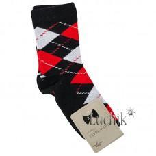(324103) [р. 7 years (стопа 19 - 19.5)] Носки для мальчика. UCS M0C0101-2072. Черный/Красный. Хлопок