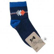 (324115) [р. 13 years (стопа 23 - 24)] Носки для мальчика. UCS M0C0101-1380. Темно-Синий. Хлопок