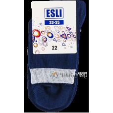 (96667) [р. 22] Носочки хлопковые демисезонные для мальчика. ESLI KIDS 14С-14СПЕ. Темно-Синий. Хлопок