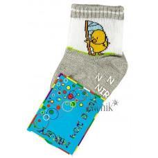 (1072) [р. 9] Хлопковые детские носочки NIREY (с АВS тормозками). GHARMANTE SNK. Светло-Серый. Хлопок С Abs