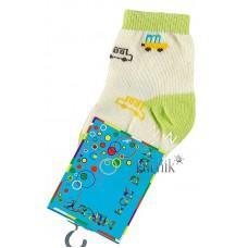 (1068) [р. 9] Хлопковые детские носочки NIREY (с АВS тормозками). GHARMANTE SNK. Салатовый. Хлопок С Abs