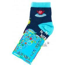 (1067) [р. 9] Хлопковые детские носочки NIREY (с АВS тормозками). GHARMANTE SNK. Синий. Хлопок С Abs