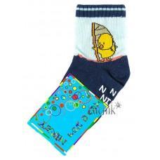 (1069) [р. 9] Хлопковые детские носочки NIREY (с АВS тормозками). GHARMANTE SNK. Темно-Синий. Хлопок С Abs