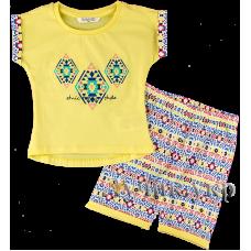 (91160) [р. 110] Пижама для девочки (с коротким рукавом). ROLY-POLY PR1067. Желтый. Супрем