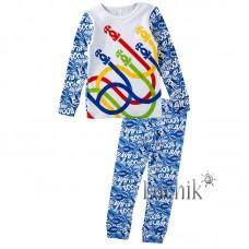 (322342) [р. 98] Пижама для мальчика. ВИТУСЯ 1005009/2. Голубой С Белым. Интерлок