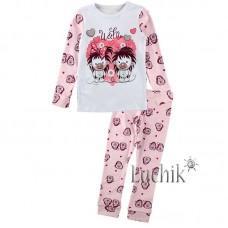 (322341) [р. 98] Пижама для девочки. ВИТУСЯ 1005009/1. Розовый С Белым. Интерлок