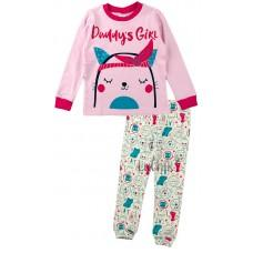(125124) [р. 110] Пижама для девочки. MERRY BEE 12487. Розовый. Интерлок