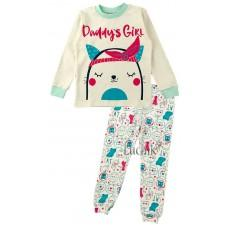 (125125) [р. 104] Пижама для девочки. MERRY BEE 12487. Молочный. Интерлок