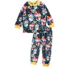 (127017) [р. 122] Пижама теплая детская из велсофта. SWEET MARIO 13-28-1. Желтый С Серым. Велсофт