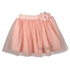(127990) [р. 128] Юбка нарядная для девочки . SMIL 120177. Розовый Персик. Фатин