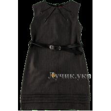 (92699) [р. 158] Сарафан нарядный для девочки КЛЕР. SOFIA SHELEST 000010-1. Темно-Серый. Костюмная Ткань