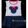 (106378) [р. 98] Платье для девочки. VIDOLI 17042. Белый С Синим. Интерлок
