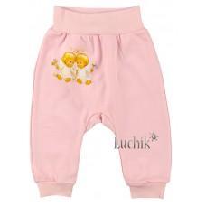 (78903) [р. 68] Штанишки трикотажные для малышей НАРРY. HAPPY TOT 929. Розовый. Интерлок